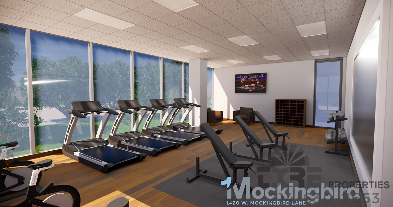 One Mockingbird Plaza fitness center